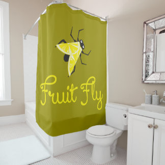 Fruit Fly Shower Curtain