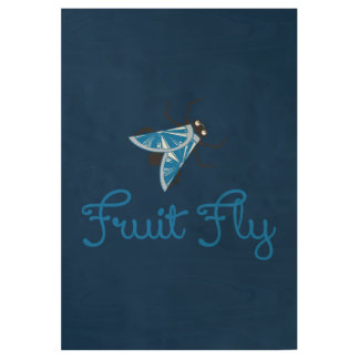 Fruit Fly Wood Poster