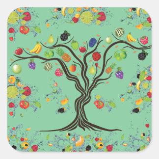 Fruit Full Square Sticker