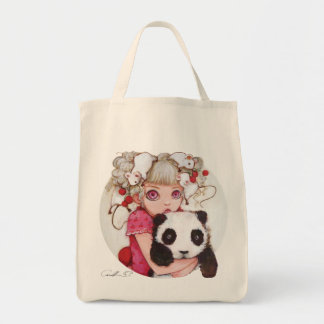 Fruit Fuzz Grocery Tote Bag