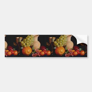 Fruit, goblet and jug car bumper sticker