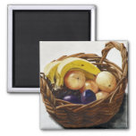 Fruit in a Basket 2 Inch Square Magnet