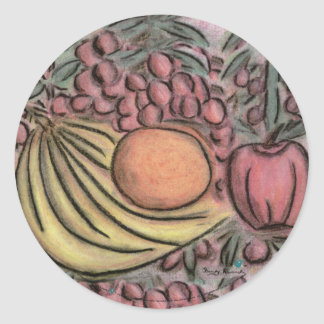 Fruit in Motion Classic Round Sticker
