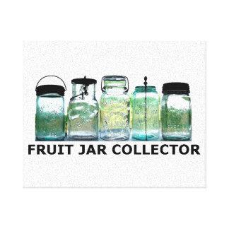 Fruit Jar Collector Antiques Vintage Mason Jars Canvas Print