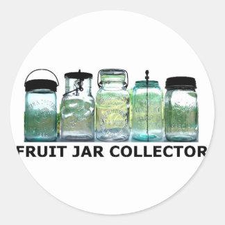 Fruit Jar Collector Antiques Vintage Mason Jars Classic Round Sticker