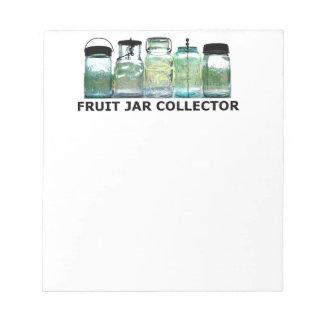 Fruit Jar Collector Antiques Vintage Mason Jars Memo Note Pad