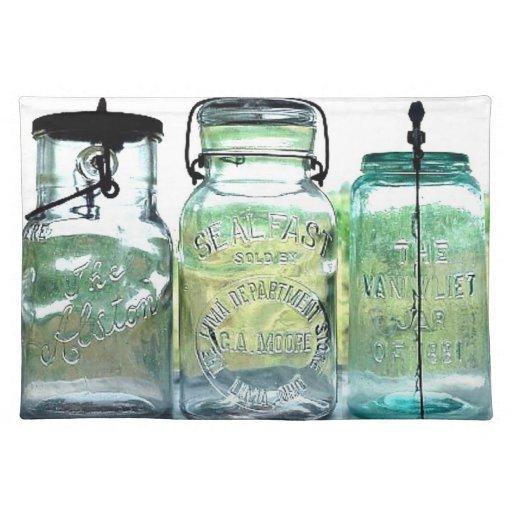Fruit Jar Collector Antiques Vintage Mason Jars Place Mats Zazzle