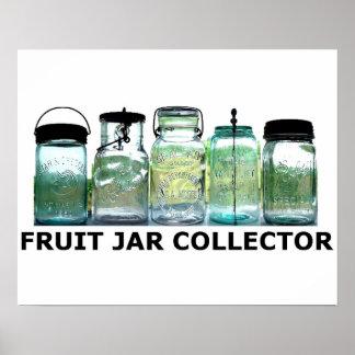 Fruit Jar Collector Antiques Vintage Mason Jars Poster