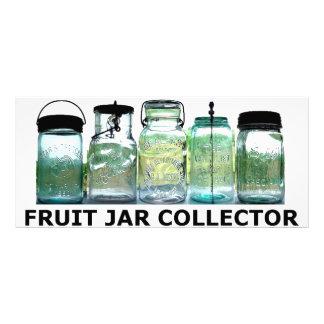 Fruit Jar Collector Antiques Vintage Mason Jars Rack Card