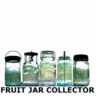 Fruit Jar Collector Mason Jars Desk Display Shelf Cutout