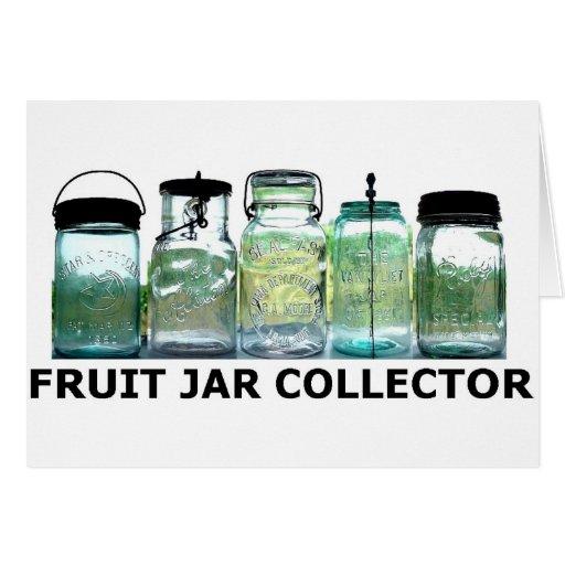 Fruit Jar Collector Vintage Mason Canning Jars Card