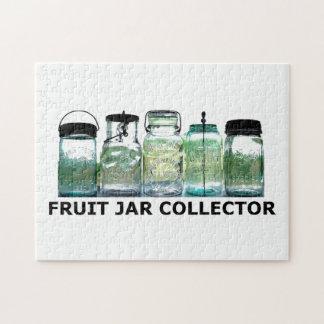 Fruit Jar Collector Vintage Mason Canning Jars Jigsaw Puzzle