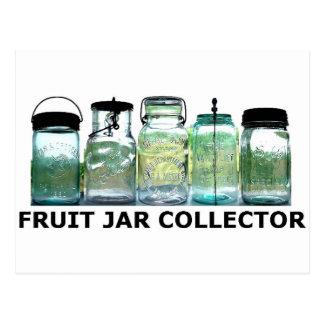 Fruit Jar Collector Vintage Mason Canning Jars Postcard