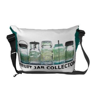 Fruit Jar Collector Vintage Mason Jars Your Name Messenger Bag