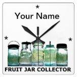 Fruit Jar Collector w/YourName Vintage Mason Jars Clocks