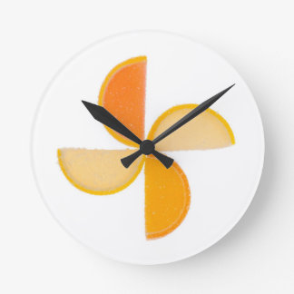 Fruit jelly slices round clock