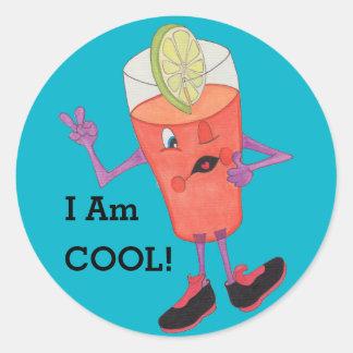'Fruit Juice Jake' Glossy Round Sticker