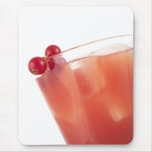 Fruit Juice with Red Currants Mouse Pad