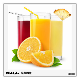 Fruit juices wall sticker