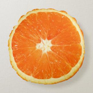 Fruit Juicy Orange Slice Round Pillow