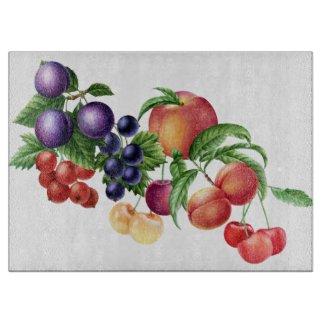 Fruit Kitchen Art Glass Cutting Board