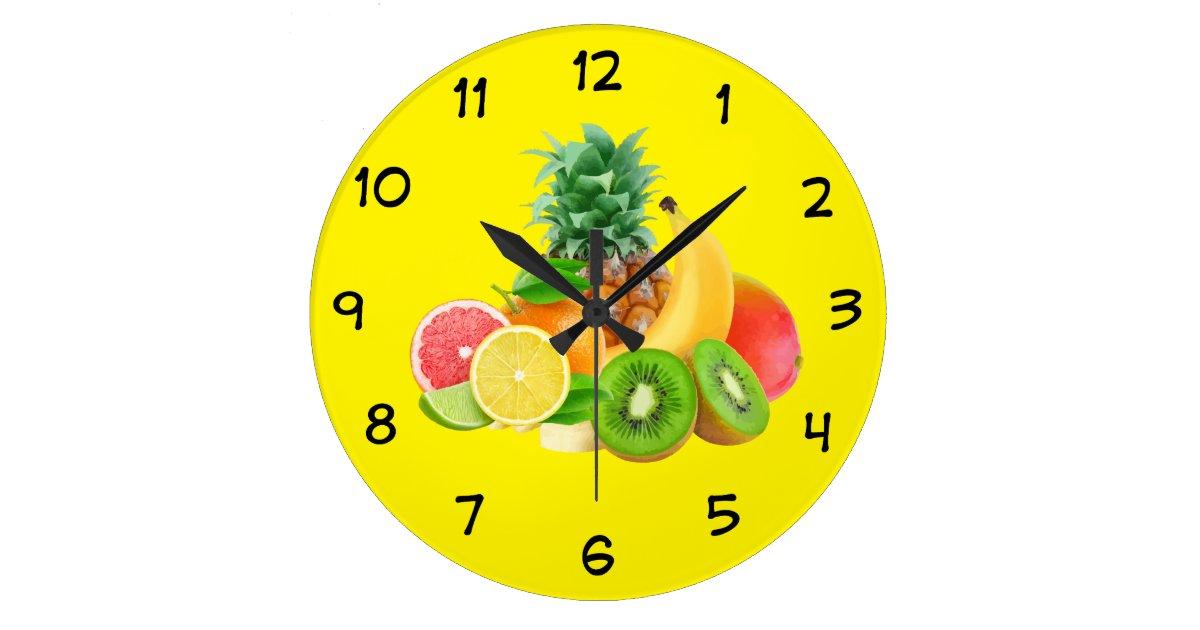 Fruit Kitchen Clock Zazzle Com