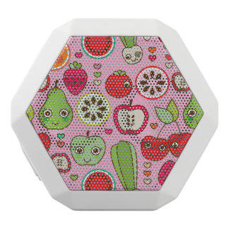 fruit kitchen illustration pattern white boombot rex bluetooth speaker