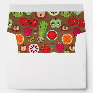 Fruit Kitchen Pattern Envelope