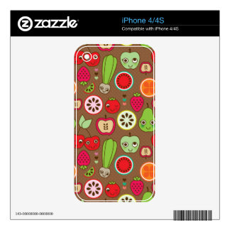 Fruit Kitchen Pattern iPhone 4S Skin