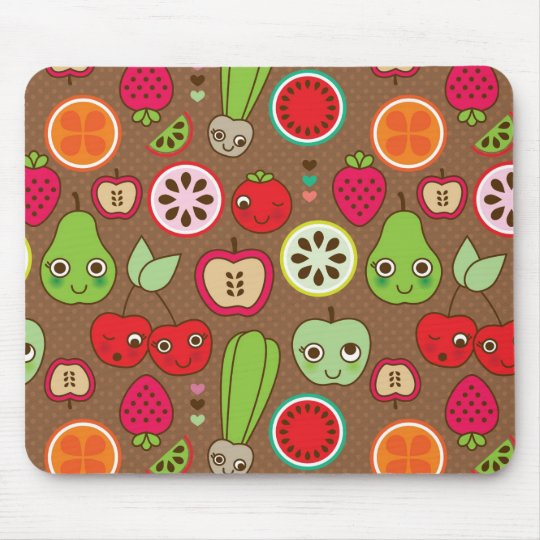 Fruit Kitchen Pattern Mouse Pad