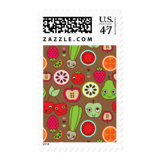 Fruit Kitchen Pattern Postage