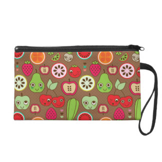 Fruit Kitchen Pattern Wristlet Purse