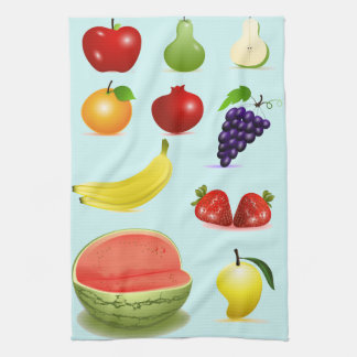 Fruit Kitchen Towel Apple Grapes Watermelon Pears