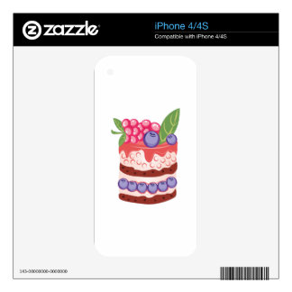 Fruit Layer Cake Skins For iPhone 4