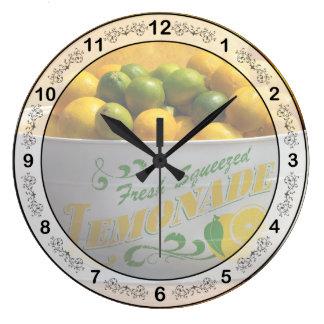 Fruit - Lemons - When life gives you lemons Large Clock