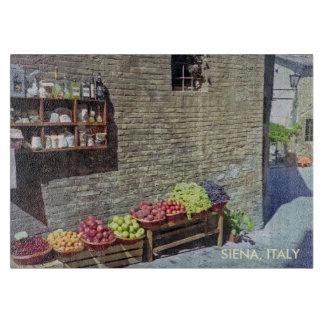 Fruit Market in Quaint Siena, Italy, Streetscape Cutting Board