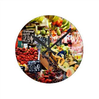 Fruit Market Round Clock