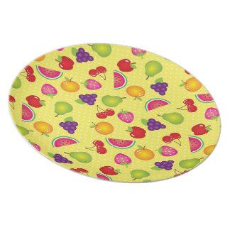 Fruit Medley-Fruit Picnic #2 Melamine Plate