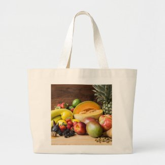 Fruit Medley Large Tote Bag