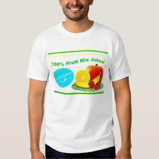 fruit mix juice label t-shirt