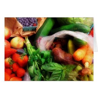 Fruit n Veg anyday notecards Card