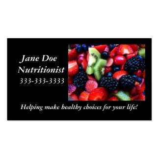 Fruit nutrition card. Double-Sided standard business cards (Pack of 100)