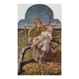 Fruit of Love by Giovanni Segantini Posters