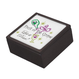 Fruit of the Grape Red Wine, Let it Pour! Keepsake Box