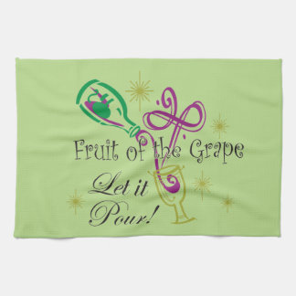 Fruit of the Grape Red Wine, Let it Pour! Towels