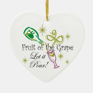 Fruit of the Grape White Wine, Let it Pour! Christmas Tree Ornaments