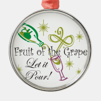 Fruit of the Grape White Wine, Let it Pour! Christmas Ornaments