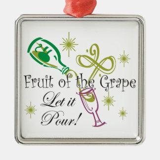 Fruit of the Grape White Wine, Let it Pour! Ornament