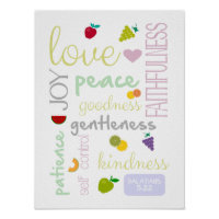 fruit of the Holy Spirit cute christian poster