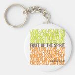 Fruit of the Spirit Basic Round Button Keychain
